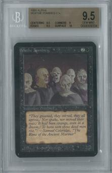 Magic the Gathering Alpha Single Scathe Zombies BGS 9.5 (9, 9.5, 9.5, 10)