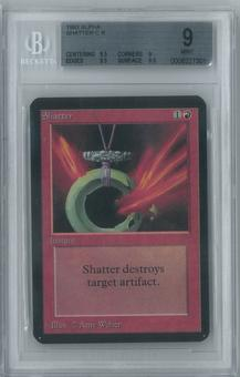 Magic the Gathering Alpha Single Shatter BGS 9 (9, 8.5, 9.5, 9.5)