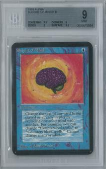 Magic the Gathering Alpha Single Sleight of Mind BGS 9 (9, 9.5, 9, 9.5)