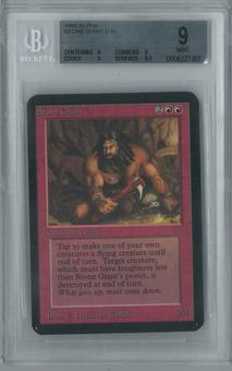 Magic the Gathering Alpha Single Stone Giant BGS 9 (9, 9, 9, 9.5)