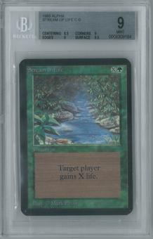 Magic the Gathering Alpha Single Stream of Life BGS 9 (9, 8.5, 9, 9.5)