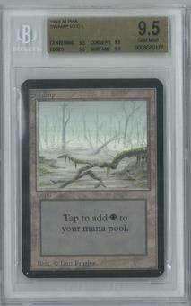 Magic the Gathering Alpha Single Swamp v2 BGS 9.5 (9.5, 9.5, 9.5, 9.5)