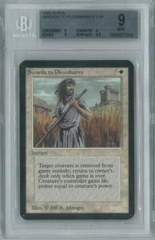Magic the Gathering Alpha Single Swords to Plowshares BGS 9 (9, 9, 9, 9.5)
