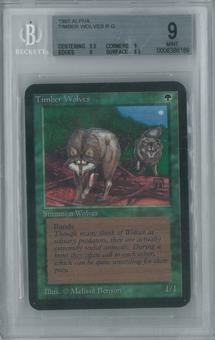 Magic the Gathering Alpha Single Timber Wolves BGS 9 (9, 9.5, 9, 8.5)