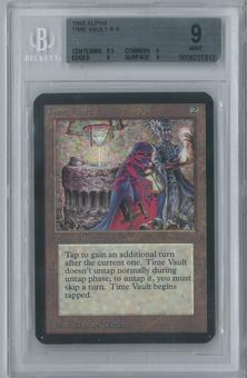 Magic the Gathering Alpha Single Time Vault BGS 9 (9, 8.5, 9, 9)