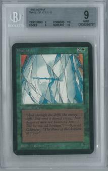 Magic the Gathering Alpha Single Wall of Ice BGS 9 (8.5, 9, 9, 10)