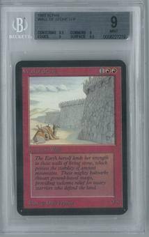 Magic the Gathering Alpha Single Wall of Stone BGS 9 (9, 8.5, 9, 9.5)