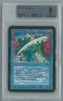 Magic the Gathering Alpha Single Wall of Water BGS 9 (9.5, 9, 8.5, 9.5)