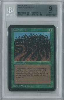 Magic the Gathering Alpha Single Wall of Wood BGS 9 (9, 8.5, 9.5, 9.5)