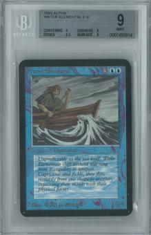 Magic the Gathering Alpha Single Water Elemental BGS 9 (9, 9, 9.5, 9)