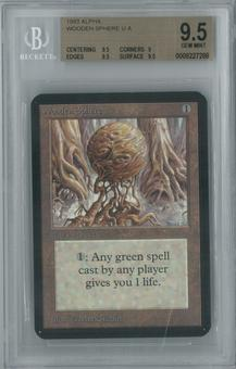 Magic the Gathering Alpha Single Wooden Sphere BGS 9.5 (9, 9.5, 9.5, 9.5)