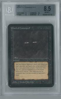 Magic the Gathering Alpha Single Word of Command BGS 8.5 (8.5, 9, 9, 8)