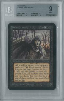 Magic the Gathering Alpha Single Zombie Master BGS 9 (9, 8.5, 9, 10)