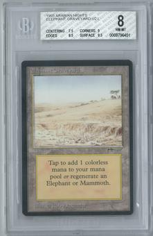 Magic the Gathering Arabian Nights Elephant Graveyard Single BGS 8 (7.5, 9, 9.5, 9.5)
