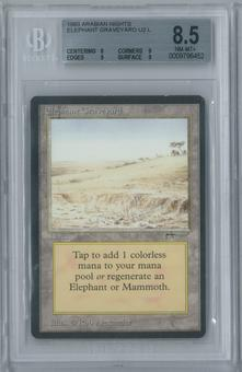 Magic the Gathering Arabian Nights Elephant Graveyard Single BGS 8.5 (8, 9, 9, 9)