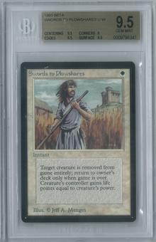 Magic the Gathering Beta Swords to Plowshares Single BGS 9.5 (9.5, 9, 9.5, 9.5)