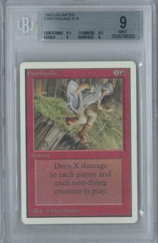 Magic the Gathering Unlimited Earthquake Single BGS 9 (9.5, 9.5, 9, 9)