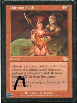Magic the Gathering Judgment Single Burning Wish - MODERATE PLAY (MP)