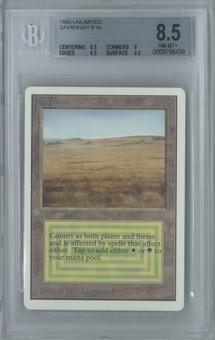 Magic the Gathering Unlimited Savannah Single BGS 8.5 (8.5, 9, 8.5, 9.5)