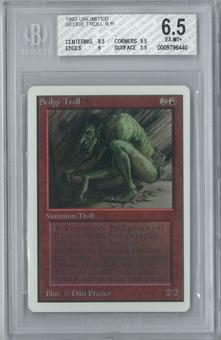 Magic the Gathering Unlimited Sedge Troll Single BGS 6.5 (8.5, 9.5, 9, 5.5)