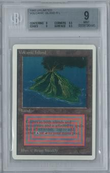 Magic the Gathering Unlimited Volcanic Island Single BGS 9 (9, 9.5, 9, 9.5)