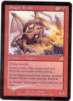 Magic the Gathering Scourge Single Dragon Tyrant Foil