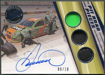 2015 Press Pass #PRPDP Danica Patrick Pit Road Pieces Sheet Metal Firesuit Glove Blue Auto #09/10