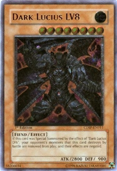 Yu-Gi-Oh Cyberdark Impact Single Dark Lucius LV8 Ultimate Rare