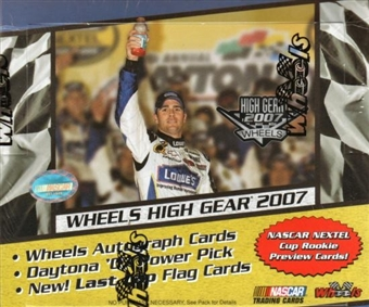 2007 Press Pass Wheels High Gear Racing Hobby Box