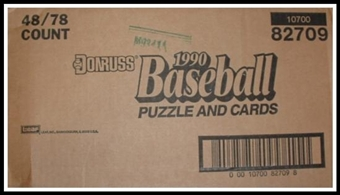 1990 Donruss Baseball Blister 48 Pack Case