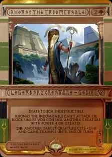Magic the Gathering Masterpiece Series: Amonkhet Invocations Single Rhonas the Indomitable Foil NEAR MINT (NM)