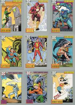 Impel 1991 DC Comics Cosmic Cards Complete 180 Card Set Plus 10 Holograms