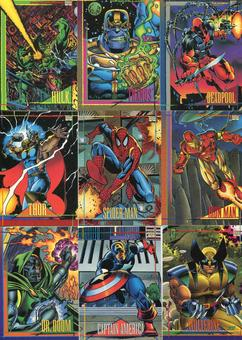 Skybox 1993 Marvel Universe Series 1 Complete 180 Card Set