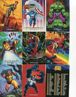 Skybox 1992 Marvel Masterpieces Series 1 Complete 100 Card Set