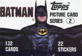 Topps 1989 Batman Movie Series 2 Complete 132 Card Set