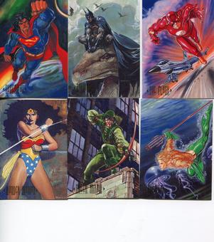 SkyBox 1994 DC Comics Master Series Complete 90 Card Set