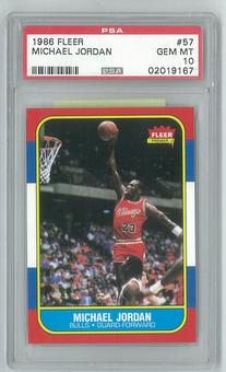 1986/87 Fleer Basketball #57 Michael Jordan Rookie PSA 10 (GEM MINT) *9167