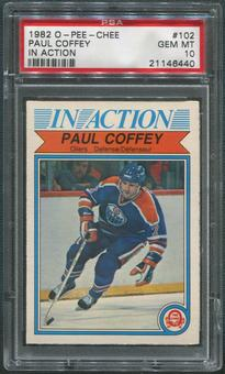 1982/83 O-Pee-Chee Hockey #102 Paul Coffey In Action PSA 10 (GEM MT)