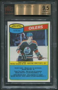 1980/81 O-Pee-Chee Hockey #182 Wayne Gretzky Team Leaders BGS 9.5 (GEM MINT)