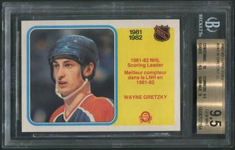 1982/83 O-Pee-Chee Hockey #243 Wayne Gretzky League Leaders BGS 9.5 (GEM MINT)