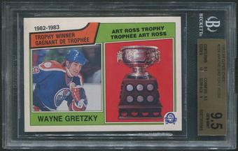 1983/84 O-Pee-Chee Hockey #204 Wayne Gretzky Ross BGS 9.5 (GEM MINT)