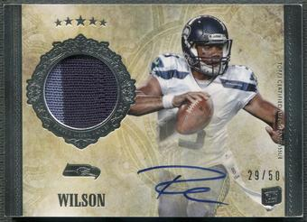 2012 Topps Five Star #159 Russell Wilson Rookie Patch Auto #29/50