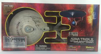 Star Trek William Shatner Autographed Wrath of Khan Enterprise 25th Anniversary Vehicle