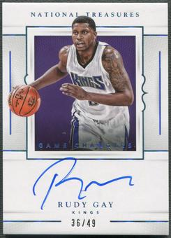 2015/16 Panini National Treasures #GCRG Rudy Gay Game Changers Auto #36/49