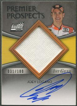 2009 Press Pass Showcase #51 Joey Logano 1st Gear Rookie Firesuit Auto #031/100