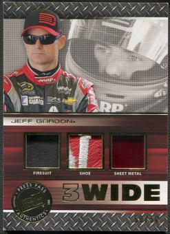 2015 Press Pass Cup Chase #3WJG Jeff Gordon Three Wide Gold Firesuit Shoe Sheet Metal #50/50