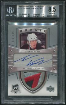 2005/06 The Cup #175 Thomas Vanek Rookie Patch Auto #039/199 BGS 8.5 (NM-MT+)
