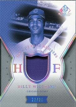 2004 SP Game Used Patch HOF Numbers #BW Billy Williams 22/26