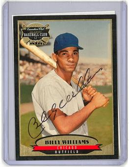 1996 Billy Williams Canadian Club Classic Card On Card Signature with COA