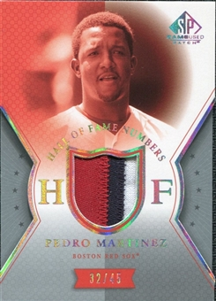 2004 SP Game Used Patch HOF Numbers #MZ Pedro Martinez 32/45